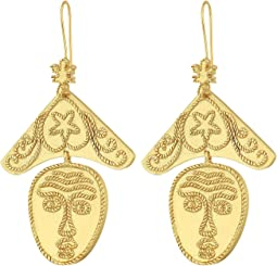 Tory Burch - Sculptural Face Earrings