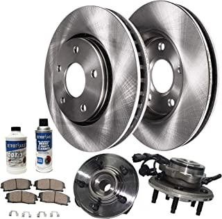 Max Brakes Front /& Rear Elite Brake Kit E-Coated Slotted Drilled Rotors + Ceramic Pads Fits: 2002 02 2003 03 2004 04 2005 05 Mercury Mountaineer KT058883