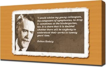 Zoltan Kodaly Quotes 5 - Canvas Art Print