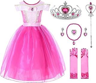 JerrisApparel Niña Princesa Aurora Disfraz Vestir Bella