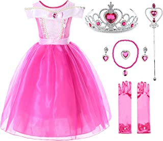 Girls Princess Aurora Costume Dress Pageants Party Fancy Dress