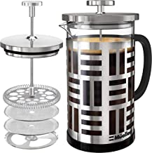 Mueller SOHO French Press Coffee Maker (8 cups, 34 oz), 304 Stainless Steel Coffee Press with 4 Stage Filtration, Durable ...