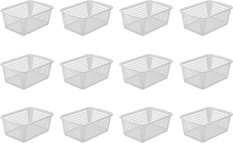 YBM Home Super beauty product restock quality top! 12-Pack Plastic Storage Deskt 2021 model for Office Basket Drawer
