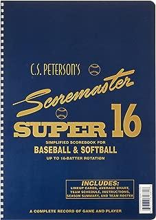 Super 16 Baseball/Softball Scorebook