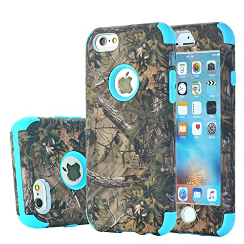 88bee74ca0 iPhone 6s Plus Case, Harsel Camouflage Design 2 Layer Hybrid Armor Soft  Silicone Rubber Hard