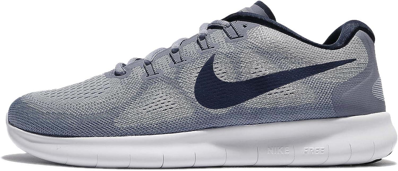 Nike Men's Free RN 2017, Wolf Grey Binary bluee