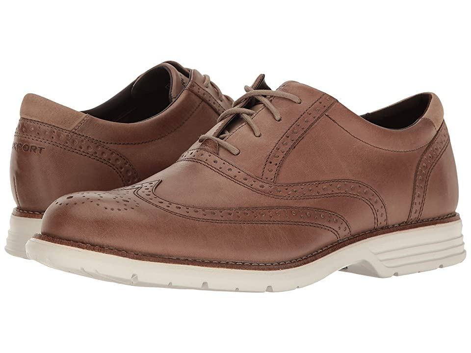 Rockport Total Motion Fusion Wing Tip (Rocksand Leather) Men