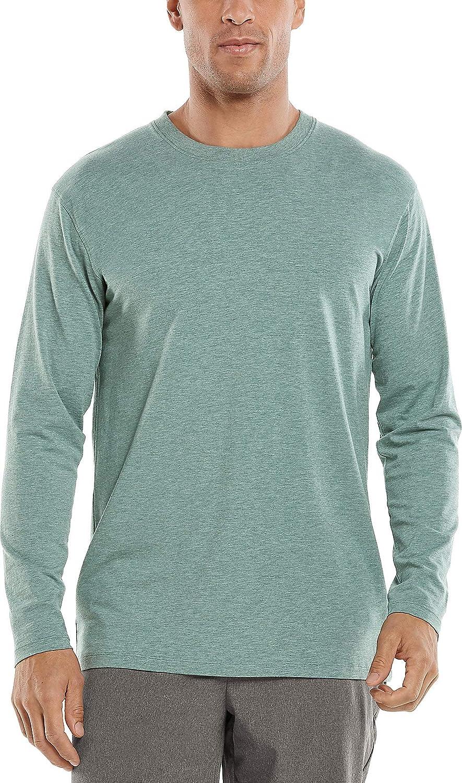 Coolibar UPF 50+ Men's Morada Everyday Long Sleeve T-Shirt - Sun Protective