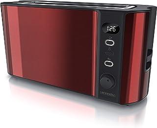 arendo - Grille-Pain Large Fente écran Digital - Grille-Pain Automatique 3 en 1-1000W - 6 Niveaux réglable - Fonction déco...
