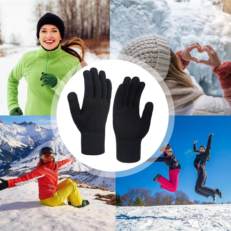 Femme Hiver Tricot/és Thermique Sport Gants Tactile Chauds Gants Hiver