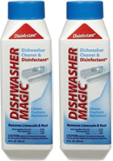 Dishwasher Magic Cleaner and Disinfectant, 12 oz, Pack of 2