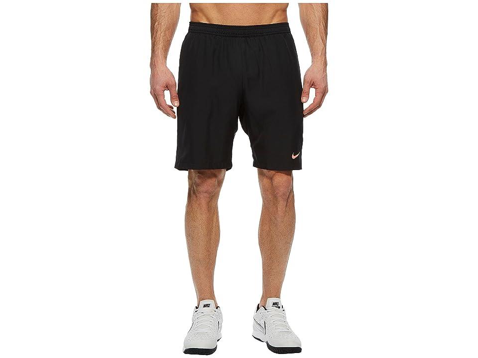 Nike Court Dry 9 Tennis Short (Black/Lava Glow/Lava Glow) Men