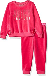 Juicy Couture 橘滋 女童丝绒裤子两件套