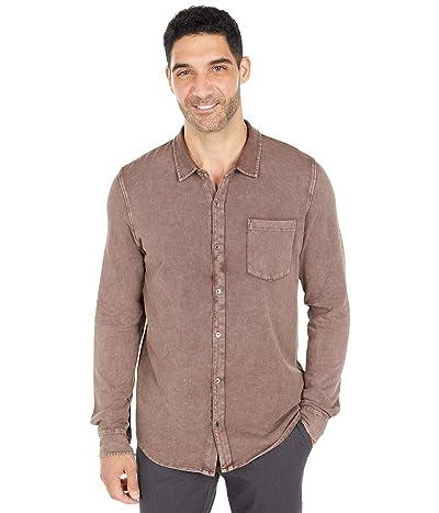Mod-o-doc Windandsea Long Sleeve Button Front Shirt (Black Plum/Stone) Men