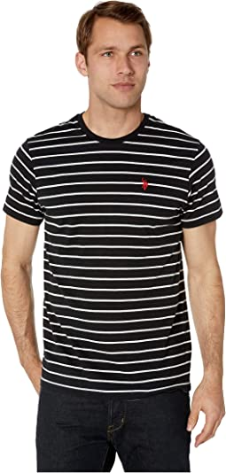 Thin Stripe Crew Neck Tee