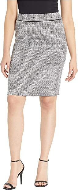Tweed Skirt with Waistband Detail