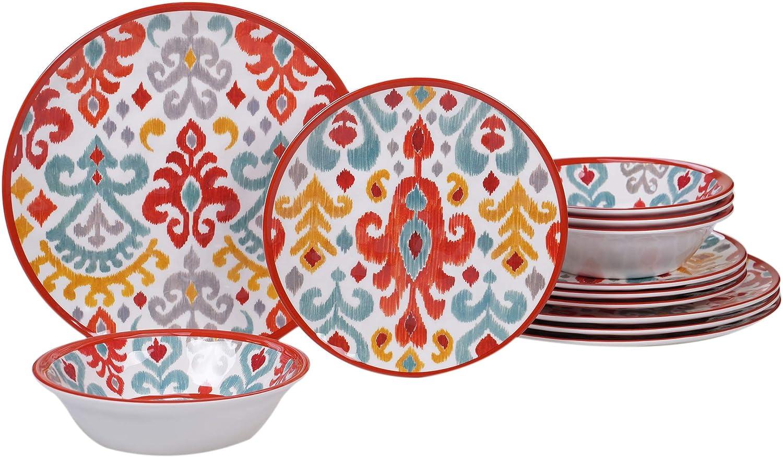 Certified International 89528 Bali Dinnerware, Dishes, Multicolor
