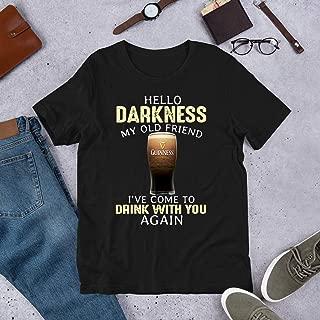 Hello darkness my old friend guinness T-shirt Customized Handmade T-Shirt For Men Women
