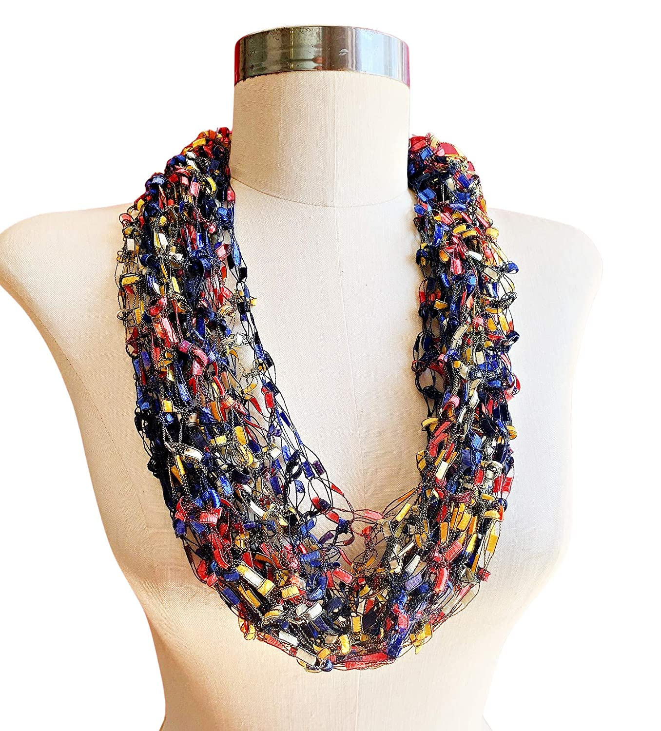 Primary Colors Light Infinity Sca Fees free!! Outlet sale feature Necklace Scarf