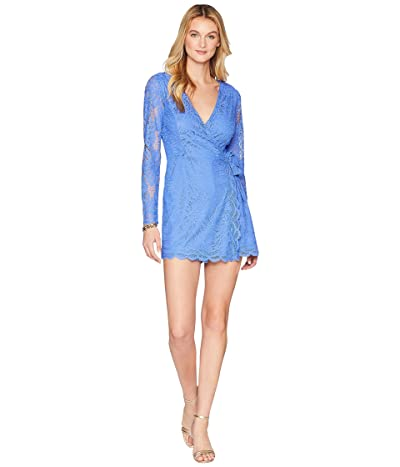 Lilly Pulitzer Tiki Wrap Romper (Beckon Blue Paradise Found Lace) Women