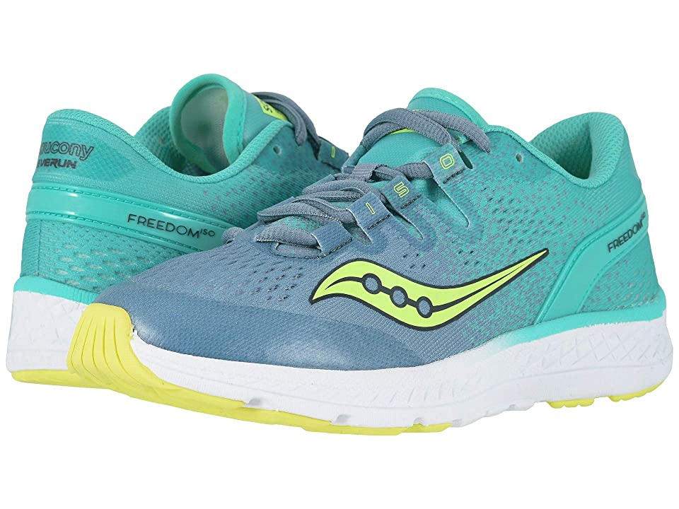 Saucony Kids Freedom ISO (Little Kid/Big Kid) (Grey/Teal) Girls Shoes