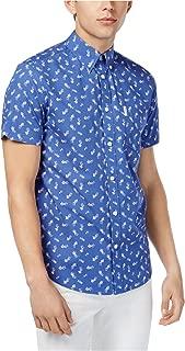 Mens Floral Button Up Shirt