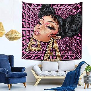 "Nicki-Minaj Tapestry Wall Hanging Art Blanket Decorated For Living Room Bedroom Dorm Decor (59""X59"")"