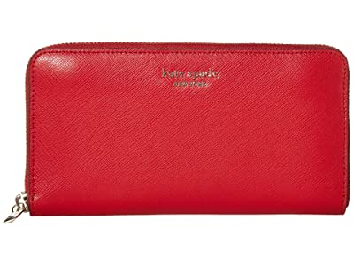 Kate Spade New York Spencer Zip Around Continental Wallet (Hot Chili) Wallet