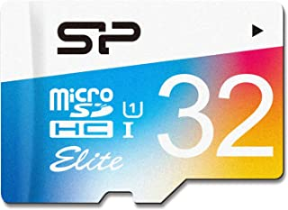 Silicon Power 32GB Up to 85MB/S MicroSDHC UHS-1 Class10, Elite Flash Memory Card (SP032GBSTHBU1V20UR)