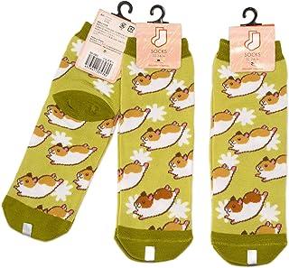 3足セット ハムスター レディース ソックス Hamster Socks ペットとアニマルソックス Pet & Animal Socks ペットラバーズ ハムコグリーン SD-3003
