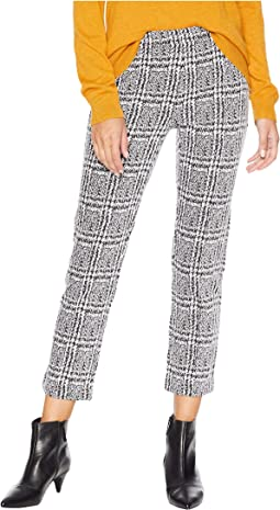 Plaid Cigarette Crop Pants