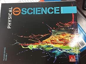 McGraw Hill Education Physical Science Teacher Edition Volume 1 Glencoe 2017