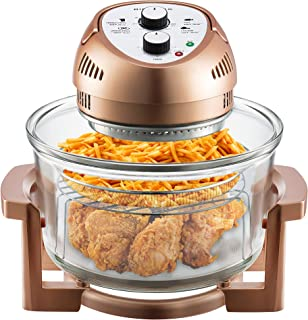Big Boss Oil-less Air Fryer, 16 Quart, 1300W, Easy Operation with Built in Timer, Dishwasher Safe, Includes 50+ Recipe Boo...