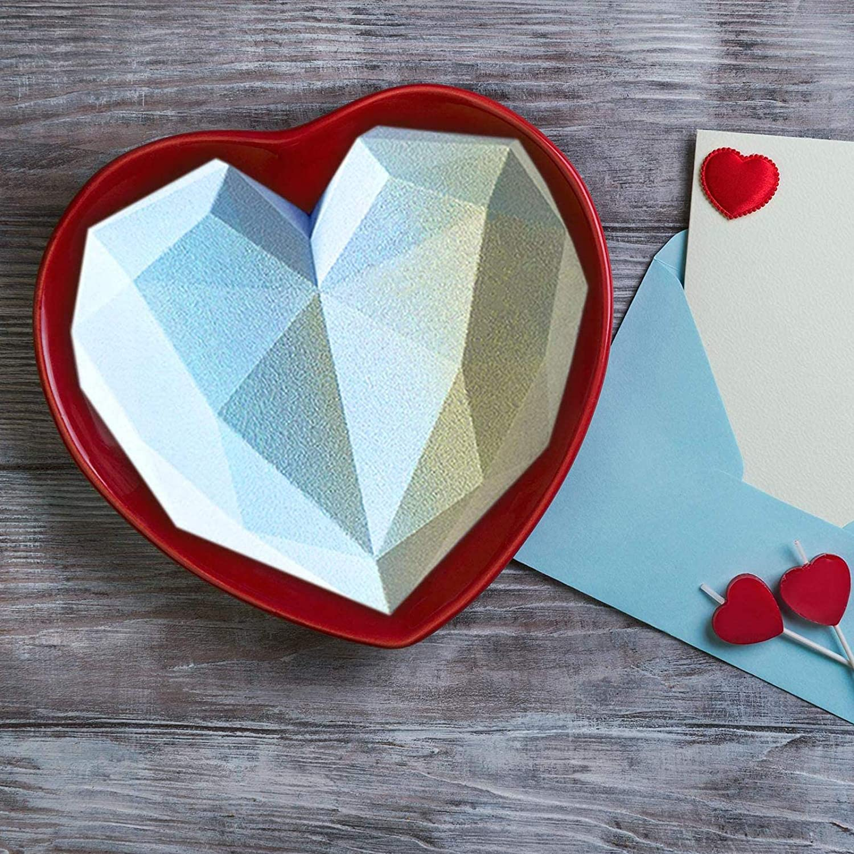 for Mousse Diamond Heart Love Shape Silicone Cake Mold Diamond Heart Shape Silicone Cake Mold Silicone Fondant Mold Chocolate Dessert Tongyundacheng Diamond Heart Mousse Cake Mold Vassoi