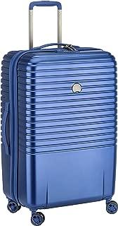 Delsey Paris Caumartin Plus 70 cm 4 Double Wheels Trolley Case Suitcase (Hardside), Blue (00207882002)