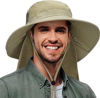 Sun Blocker Outdoor Sun Protection Fishing Cap Neck Flap Wide Brim Hat Men Women Baseball, Backpacking, Cycling, Hiking, G...