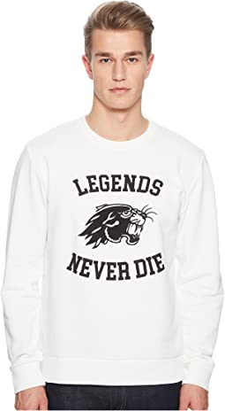 Sweatshirt with Tiger Motif