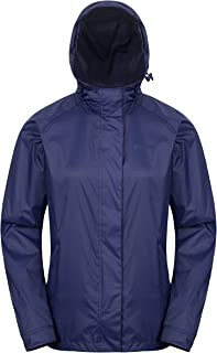 Mountain Warehouse Torrent Womens Waterproof Jacket - Ladies Raincoat, Lightweight Coat, Fully Taped Seams, 2 Zipped Pockets Cagoule - for Travelling, Camping, Outdoors