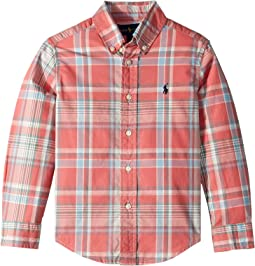Plaid Cotton Poplin Shirt (Little Kids/Big Kids)