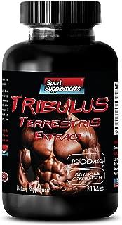 Testosterone booster for men fat burner - TRIBULUS TERRESTRIS EXTRACT 1000MG - MUSCLE STRENGTH - Tribulus terrestris herbal - 1 Bottle 60 Tablets