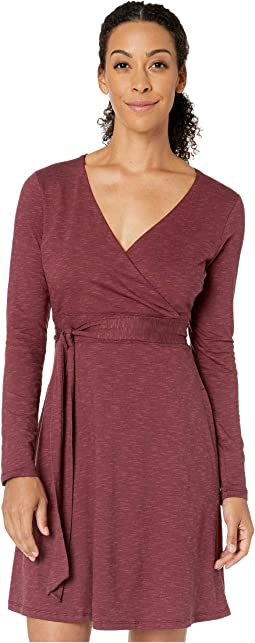 Cue Wrap Long Sleeve Dress