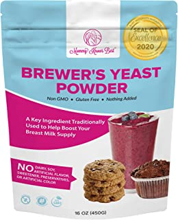 Brewers Yeast Powder for Lactation - Mommy Knows Best Brewer's Yeast for Breastfeeding Mothers - Mild Nutty Flavored Unswe...