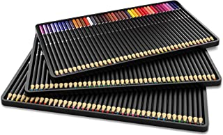 Castle Art Supplies 120 Colored Pencil Set for artists, featuring 'soft series' core for expert layering, blending and shading; perfect for coloring books and classroom
