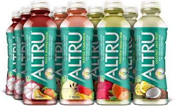 ALTRU - Exotic Fruit Flavored Water with Patent Pending Antioxidant & Electrolyte Blend - 12 pack (16 ounce bottles) KETO,...