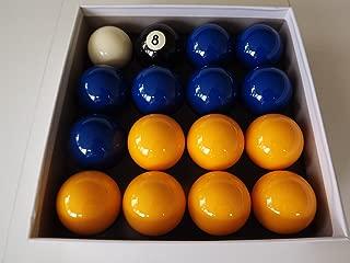 Bolas de billar, color azul y amarillo