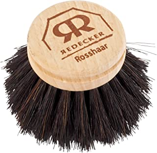 Redecker Horsehair Replacement Head made with Untreated Beechwood, 2-Inches