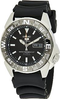 Seiko 5 Men's Black Dial Rubber Automatic Watch - SNZE81J2