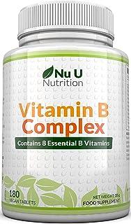 Vitamina B Complex | 180 Comprimidos (Suministro para 6 meses) | Contiene Ocho Vitaminas del grup...