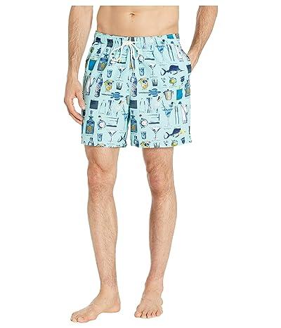Tommy Bahama Naples Well Stocked Swim Trunk (Summer Aqua) Men