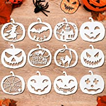 Konsait 12pcs Halloween Stencils Template Reusable Plastic Craft for Art Drawing Painting Spraying Window Mirror Glass Door Car Body Wood Journaling Scrapbook